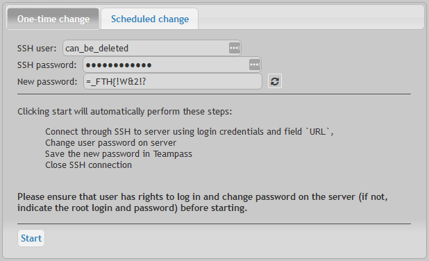Remote server - Teampass Documentation