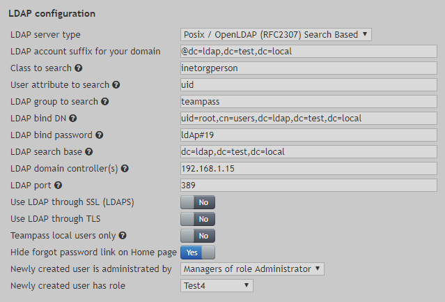 Advanced setup - Teampass Documentation